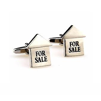 Silver For Sale Estate Agent Cufflinks Work Present Property Real Estate Investor Buy Sell