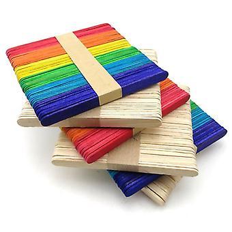 50pcs wooden popsicle stick - kids hand crafts, art, ice cream lolly & cake diy