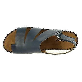 Auditions kvinners hastighet skinn åpen tå casual ankel stropp sandaler