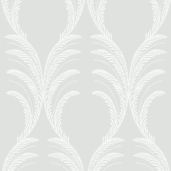 Grandeco Floral Leaf Pattern Wallpaper Embossed Stripe Glitter Motif Textured