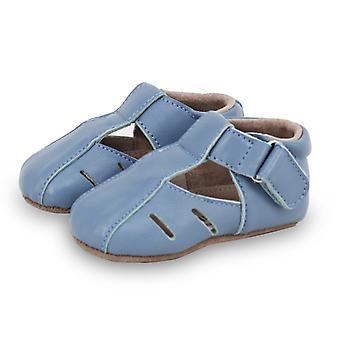 SKEANIE Dakota Leather Pre-walkers in Blue