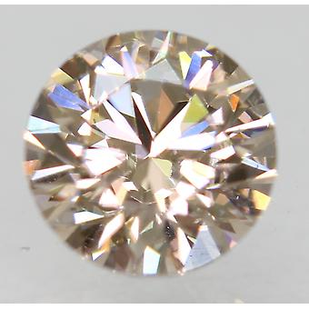 Cert 0.73 Carat Light Brown VVS1 Round Brilliant Natural Loose Diamond 5.75m 3EX