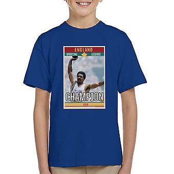 Sporting Legends Poster England Daley Thompson Champion 1984 Olympics Kid's T-Shirt