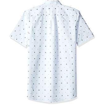 Goodthreads Men's Slim-Fit Kortærmet Dobby Skjorte, -lyseblå anker, XX-L...