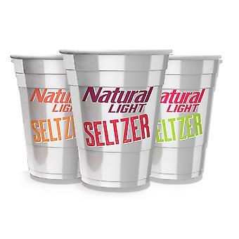 Natural Light Seltzer Tasses en plastique réutilisables 3-Pack