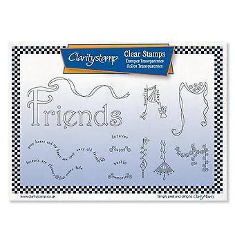 Claritystamp Ystävät Dangles Selkeät postimerkit