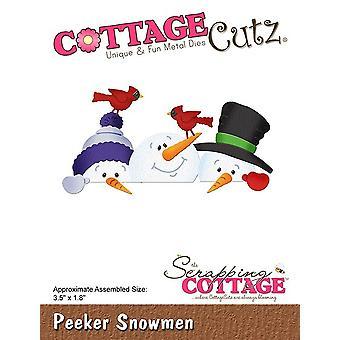Scrapping Cottage Peeker Snowmen
