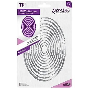 Gemini Torn Edge Oval Papercraft Die