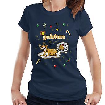 Gudetama Navidad Nisetama San Reno Mujer's Camiseta