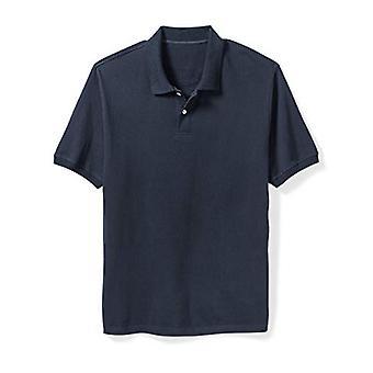 Essentials Men's Big & Tall Cotton Pique Polo Shirt fit by DXL, Navy, ...