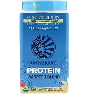 Sunwarrior, Warrior Blend Protein, Organic Plant-Based, Vanilla, 1.65 lb (750 g) Sunwarrior, Warrior Blend Protein, Organic Plant-Based, Vanilla, 1.65 lb (750 g) Sunwarrior, Warrior Blend Protein, Organic Plant-Based, Vanilla, 1.65 lb (750 g) Sunwar