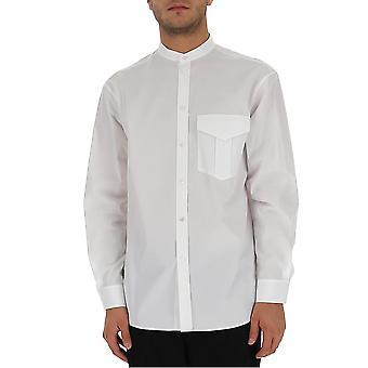 Jil Sander Jsyr600205mr244300100 Miesten's Valkoinen Puuvilla paita