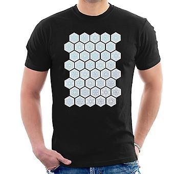 Disney gefrorene Schneeflocke Montage Men's T-Shirt