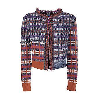 Missoni 2df000602k006ll7035 Vrouwen's Multicolor Wool Cardigan