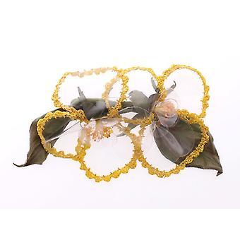 Dolce & Gabbana Floral Transparent Handmade Brooch MOM10368
