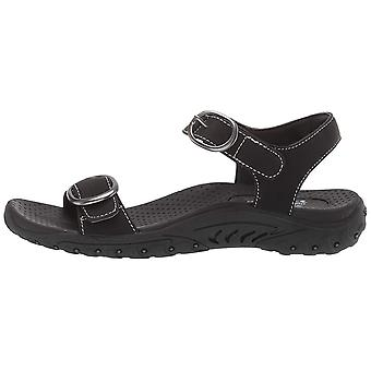 Skechers Women-apos;s Reggae-Always Strapped-Double Buckle Strappy Slingback Sandal