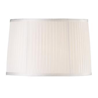 40 cm kangas lampunvarjostin valkoinen