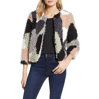 1.State | Fall Cropped Faux Fur Jacket