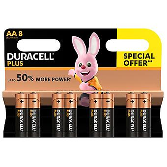Duracell AA Cell Plus Power LR6/HP7 Batteries (Pack 8) MN1500B8