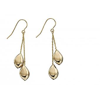 Elements Gold 9ct Yellow Gold Pebble Earrings GE2314
