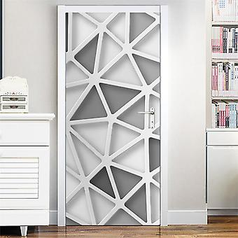 Geometry Door Sticker Self Adhesive Waterproof Removable Wallpaper Vinyl Wall