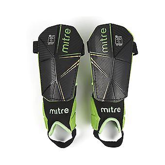 Mitre Delta Ankle Protect USA Football Shinguard Shinpad Black/Green/Yellow