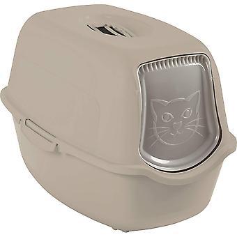 Rotho Bailey Katzenklo mit Haube und Klappe, Kunststoff (PP) BPA-frei, cappuccino,  (56.0 x 40.0 x 39.0 cm)