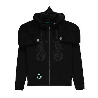 Assassins Creed Hoodie Valhalla Viking Logo new Official Mens Black Zipped