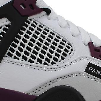 Nike Air Jordan 4 Retro PSG White/Bordeaux-Neutral Grey CZ6509-100 Grade-School
