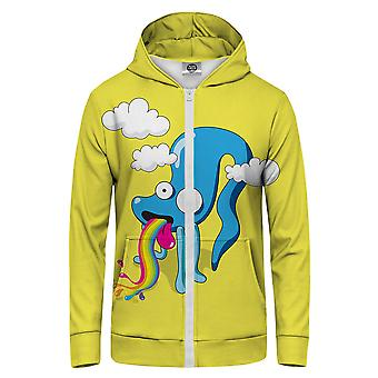 Pan GUGU & Miss GO Rainbow Spew Bluza z kapturem Kangaroo Zip Up