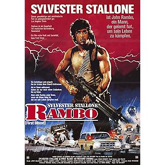 Rambo ensimmäinen verta elokuvajuliste (11 x 17)