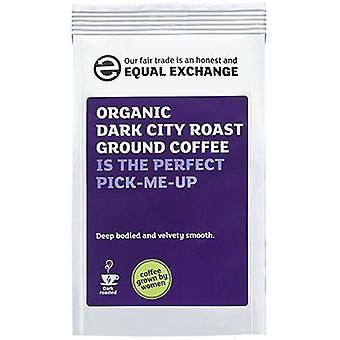 Equal Exchange Organic Dark City R&G Coffee 227g x8
