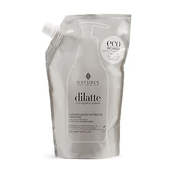 Dilatte Refill nourishing liquid soap for hands and face 400 ml