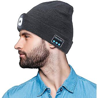 Bluetooth Beanie Hat,  Led Lighted Hat With Builtin Stereo Speakers And Mic,for Outdoor