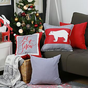 חג מולד שמח לזרוק כיסוי כרית