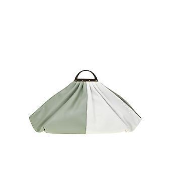 The Volon Ezgl221009 Women's Green Fabric Clutch