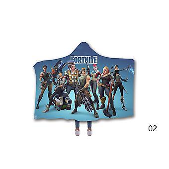Fortnite Hooded Blanket for Kids and Adults