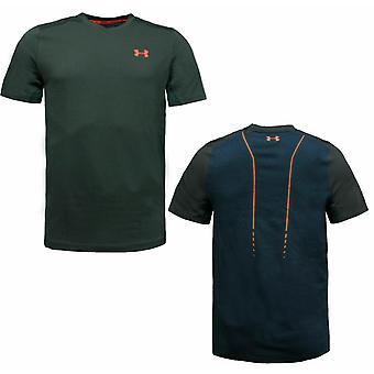 Under Armour Threadborne Centre Court T-Shirt Mens V Neck Top 1304438 008 A156A