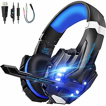 Ps4 Gaming Headset 3.5mm Surround Sound Led Light With Microphone