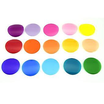 Godox v-11c color filters set 15 color 30 pieces adjustable color temperature set for godox ak-r1 go