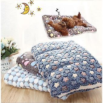 Pet Cat Bed Dog Bed Îngroșat Pet Soft Fleece Pad Pătură Pat Mat Pernă Acasă Portabil Lavabil Rug
