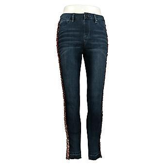 Laurie Felt Women's Pants Pull On Denim Sequin Stripe Jeans Blue A367571
