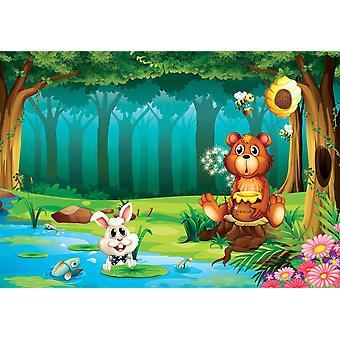 Fondo de pantalla Mural Oso en la selva (3123