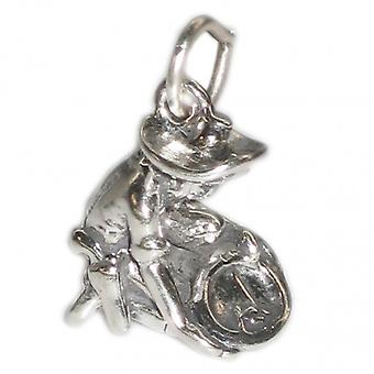 Gold Panner Panning Sterling Silver Charm .925 X 1 Prospector Charms - 2704