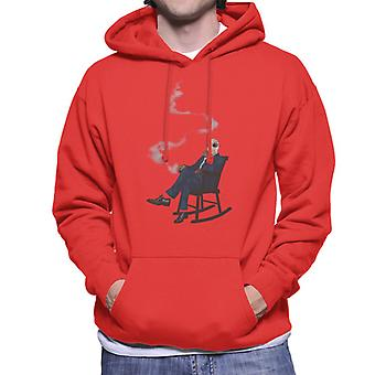 The Invisible Man In Chair Men's Hooded Sweatshirt