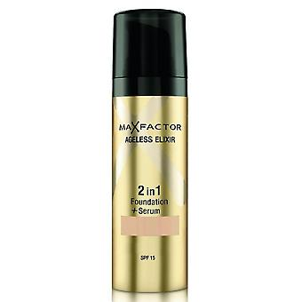 Max Factor # Max Factor Ageless 2 In 1Foundation - Pearl Beige 35 DISCON#