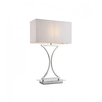 Epalle Lampe, Chrom, mit Lampenschirm