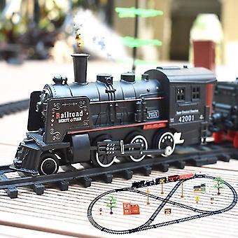 Ny Electric Train Set Rc Railway Fjernbetjening Jernbane Biler Steam's Legetøj