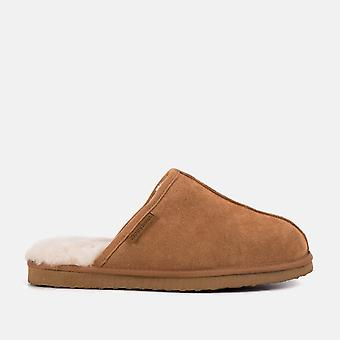 Allen (gb-tan) tan sheepskin slippers