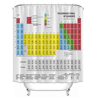 Periodic Table Of Elements Shower Curtain, Chemical Form Digital Printing,